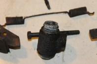 cylindre de roue arrière corrodé