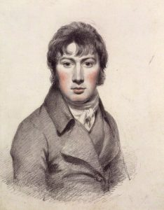 Pencil and chalk self portrait of John Constable