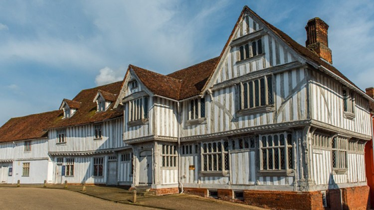 photo of the outside of Lavenham Guildhall