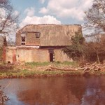 colour photo of the Granary standing derelict in 1977