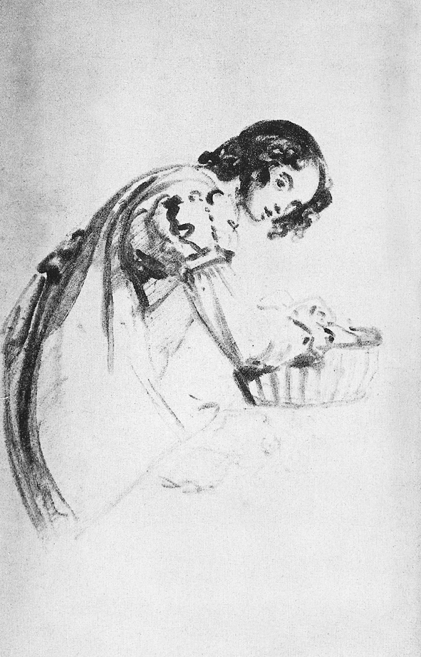 Sketch by John Constable of his daughter Isabel 1831