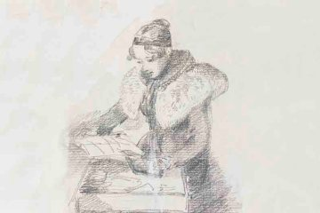 Sketch of Mary Constable by John Constable - Royal Albert Memorial Museum Exeter