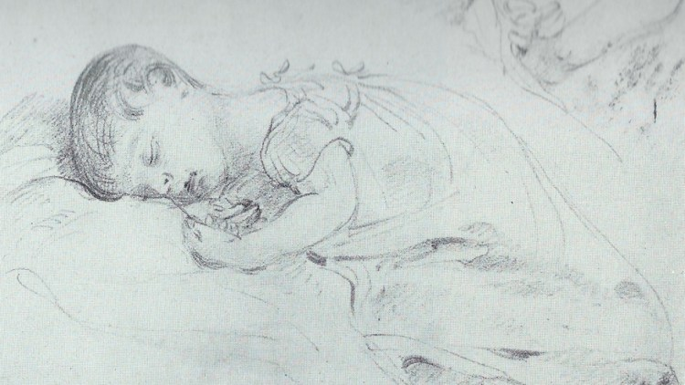 Sketch by John Constable of Alfred Constable (probably)