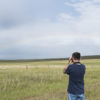 Paul Rossi Observes Ferruginous Hawk - Photo Credit: Jake Bramante