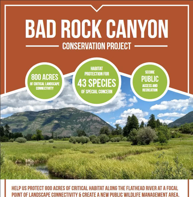 Fundraising For The Bad Rock Canyon Conservation Project Off To A Great Start!