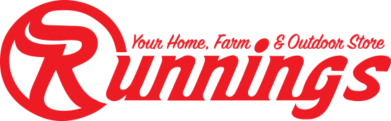 Runnings is you home, farm and outdoor store logo