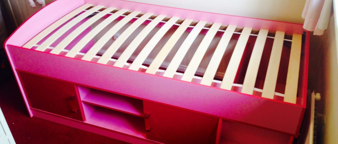 Ottawa pink cabin bed assembly by Flat Pack Dan