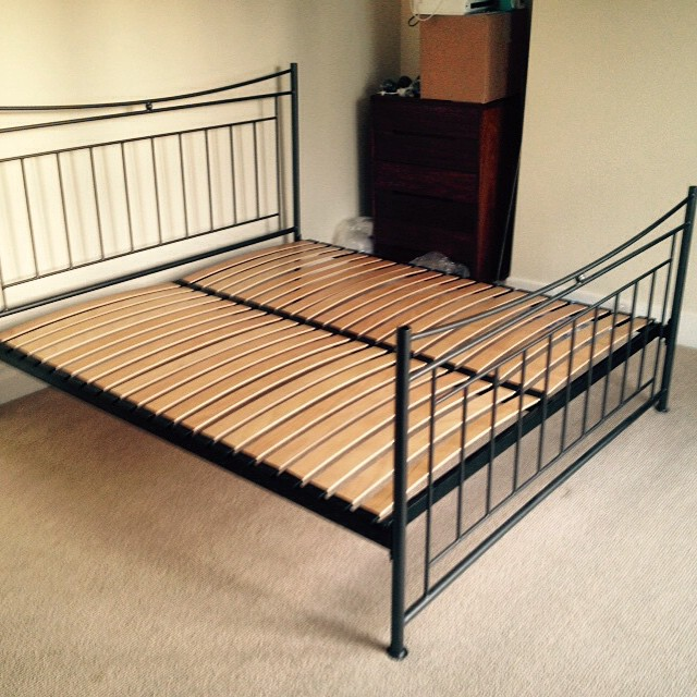 Iron #bed assembly for a customer in #Brighton.