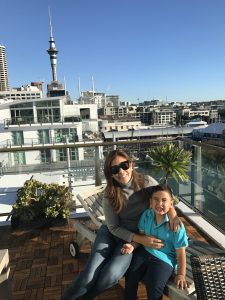 Our apartment in Auckland was right on the wharf and had a fantastic view of the Sky Tower :)