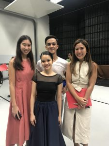 with Amanda's former Assumption schoolmate Monica Gana and Kuya Yugne (who performed the male lead in all of Amanda's ballet recitals with Teacher Toni Lopez)