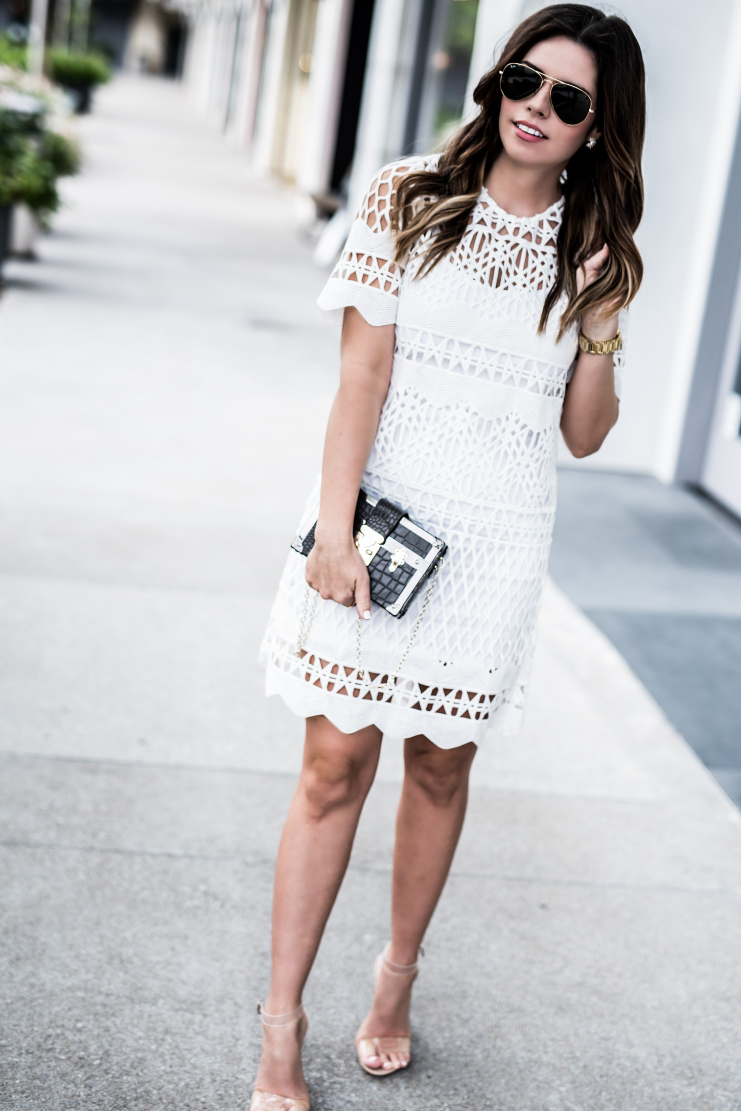 Tiffany Jais Houston fashion and lifestyle blogger | Spring styles with Lord & Taylor, white crotchet lace dress