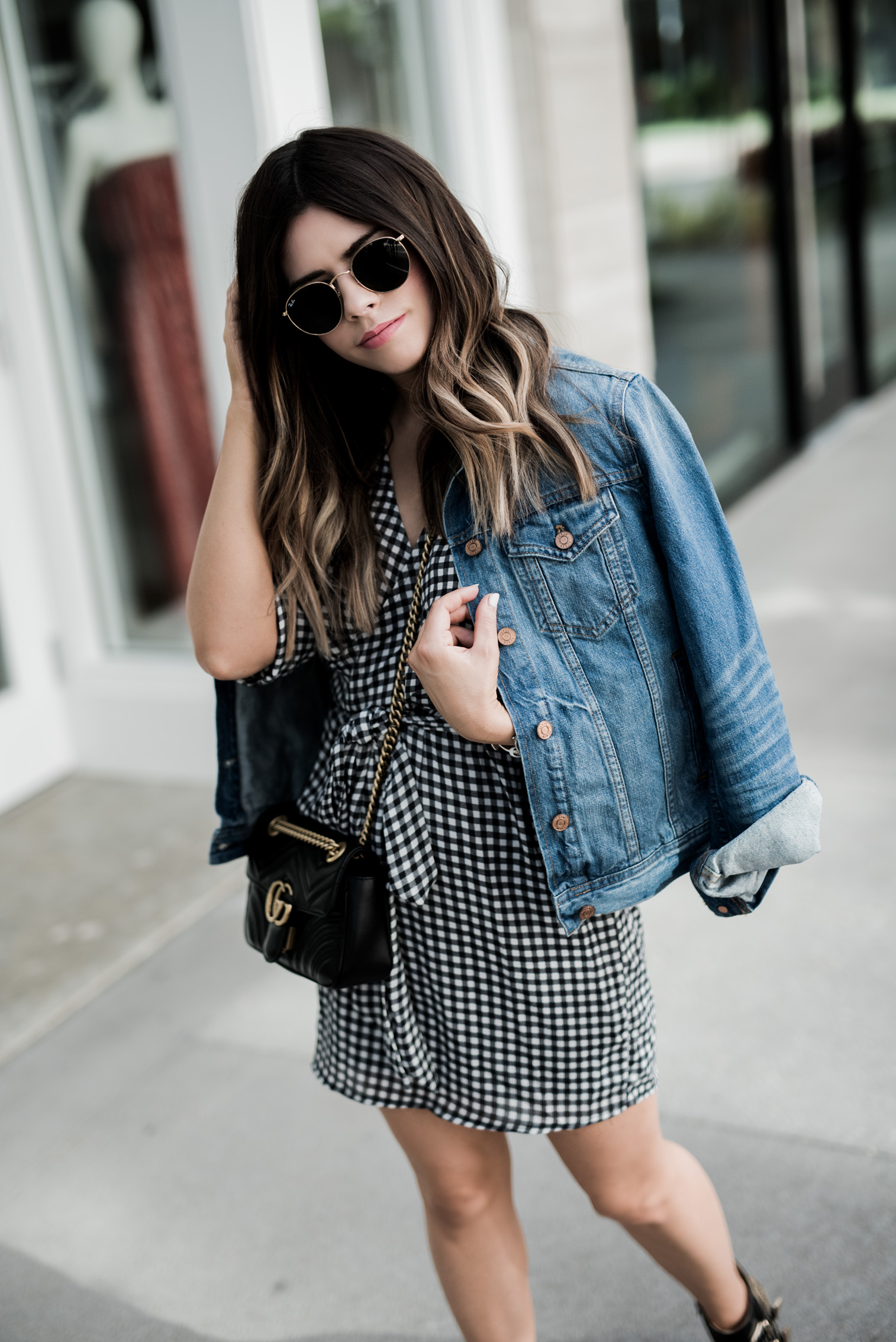 Tiffany Jais Houston fashion and lifestyle blogger | 14 Gingham items you need in your closet | Chloe studded boots, Gucci Marmot outfits, casual outfit ideas, streetstyle