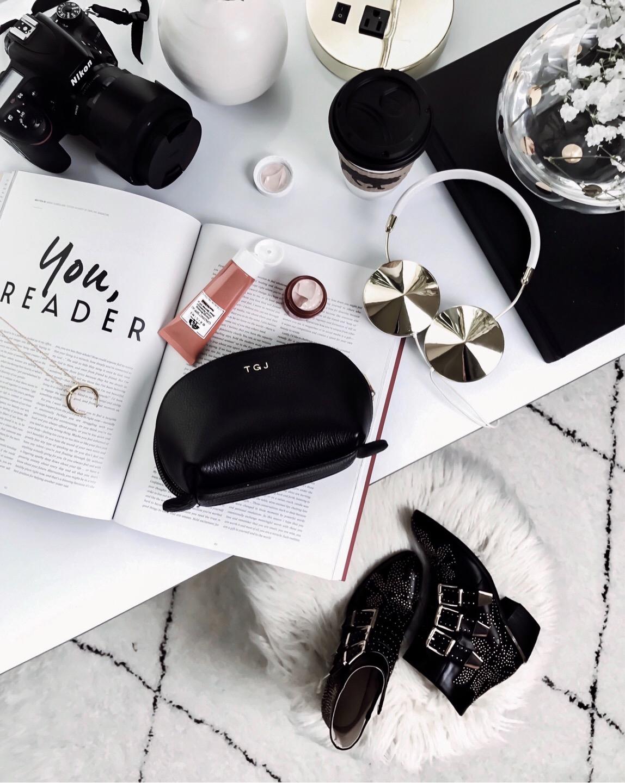 Tiffany Jais Houston fashion and lifestyle blogger   flatlay photo, chloe studded boots