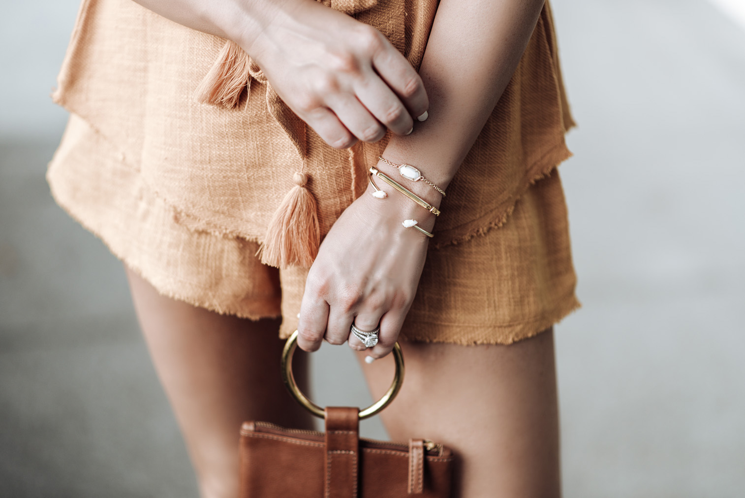 Free People So Simple Set (Size small)  | Kendra Scott Elaina bracelet  & the Jackson Pinch bracelet (Available at Kendra Scott at the Rice Village Shopping Center) | Mini Marie Pendant | Signature Bandle Monica Vinader | OTAAT/MYERS Collective Ring pouch
