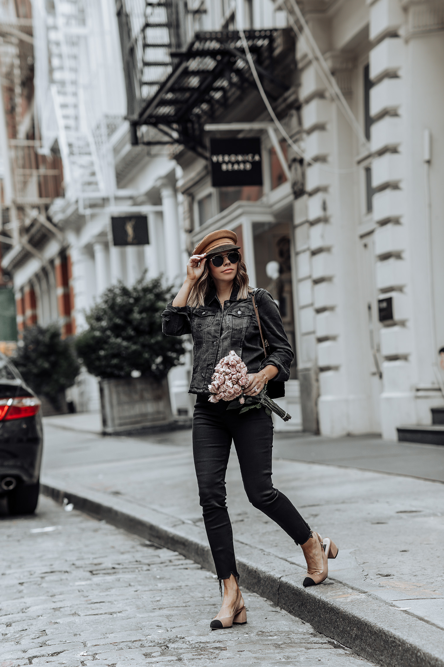 Denim on Denim   Click to shop the look:Abercrombie Denim Jacket   High Rise Ankle Jeans   NYC blog #nycblogger #ootd #liketkit