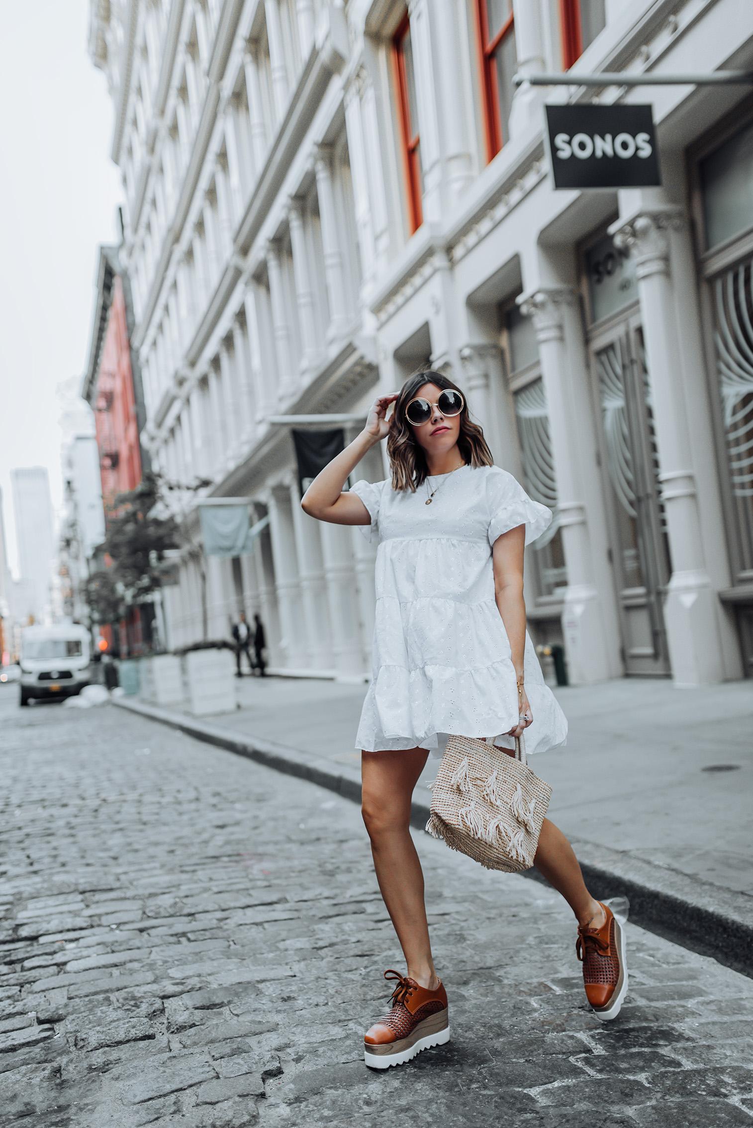 Babydoll dress | Tassel Bag | Sunnies | #liketkit #LWD #casualoutfits #streetstyle