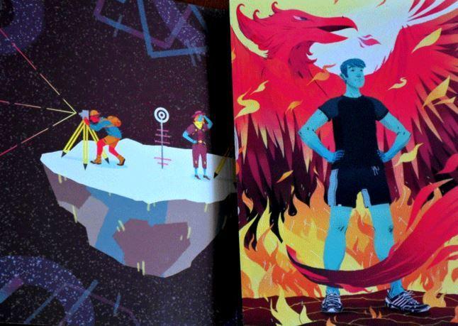 Trifold Postcard Promo - Self-Promotion by Freelance Illustrator Nick Iluzada. Click to visit Nick's online portfolio!