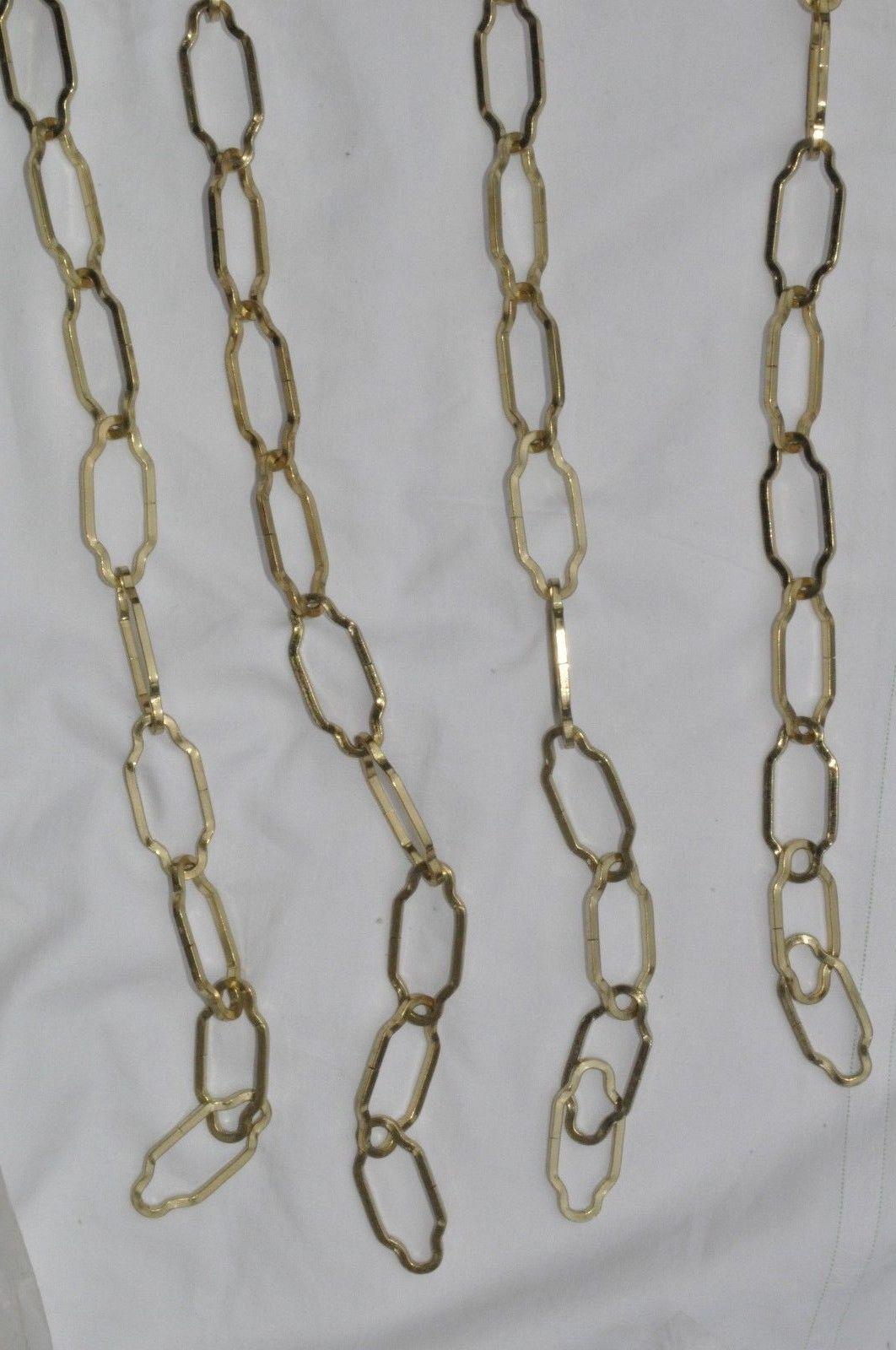 2 chaines en acier laitonne pour lustre