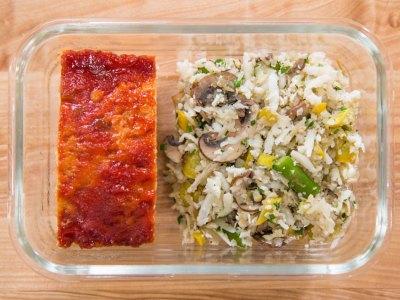 turkey meatloaf meal prep