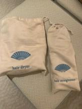Secador de cabelo e chapinha