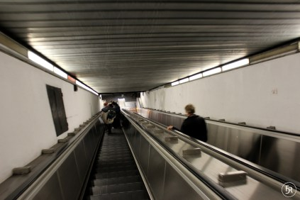 Entrance to Metro Station in Rome