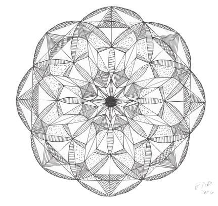 Mandala B/W