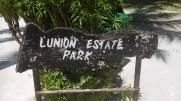 Sign of L'Union Estate Park on La Digue (Park Entry)