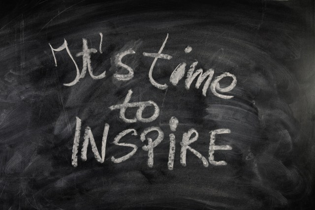 It's time to inspire! Source: https://pixabay.com/illustrations/board-font-chalk-enlightenment-953154/