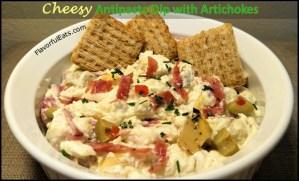Cheesy Antipasto Dip with Artichokes