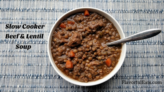 Slow Cooker Beef & Lentil Soup