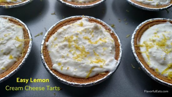 Easy Lemon Cream Cheese Tarts