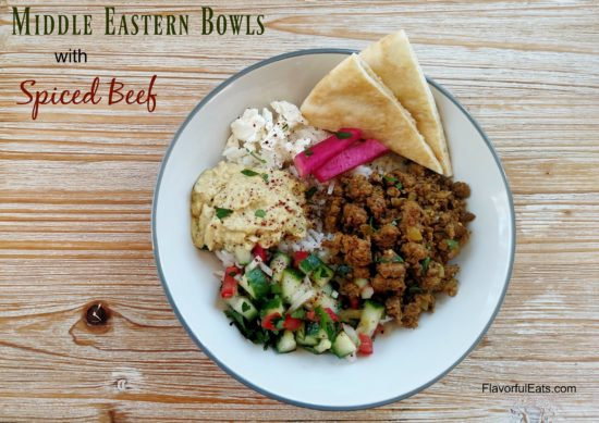 Middle Eastern Bowls with Spiced Beef