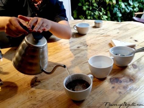 Coffee cupping Bogota