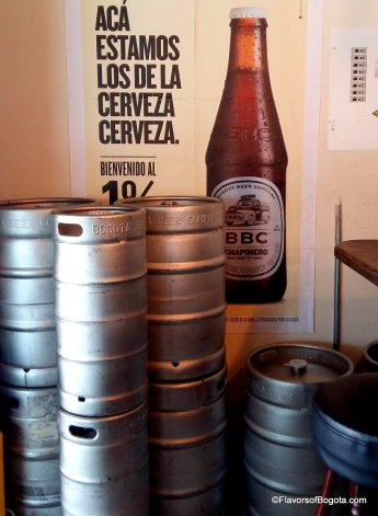Bogota Beer Company kegs