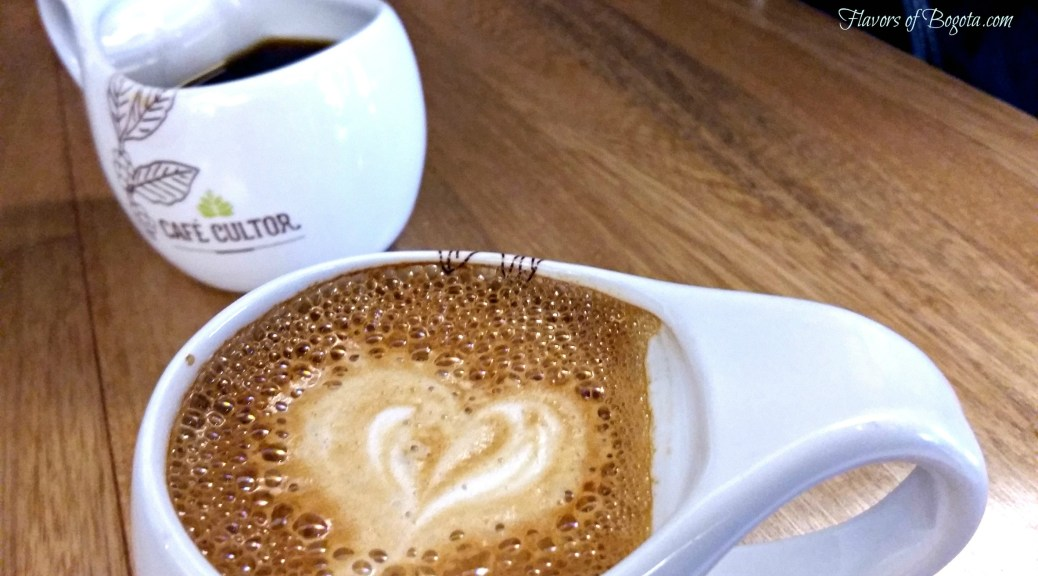 Cafe Cultor latte and black coffee cafes especiales