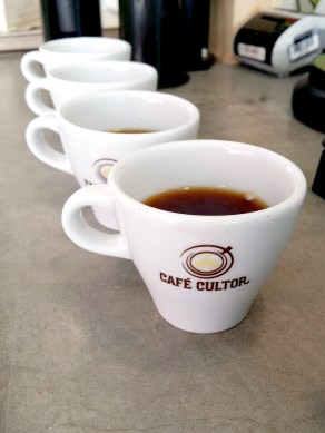 Cafe Cultor coffee cupping in Bogota