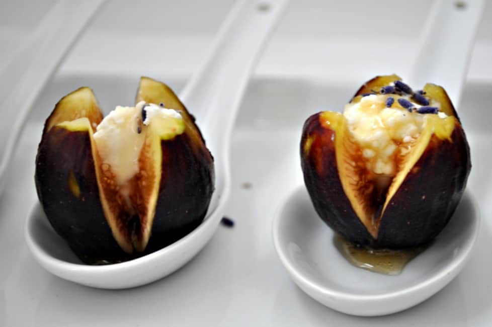 Fresh Figs With Goat Cheese And Honey