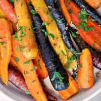 Roasted Carrots with Honey-Mustard Glaze