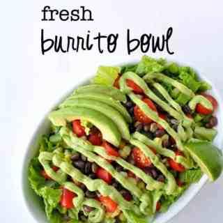 Fresh Burrito Bowl |www.flavourandsavour.com