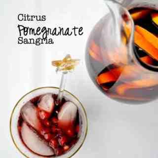 Citrus Pomegranate Sangria |www.flavourandsavour.com