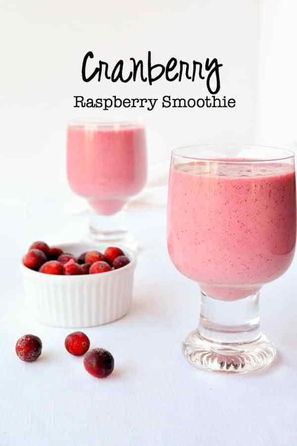 Cranberry-Raspberry Hemp Seed Smoothie