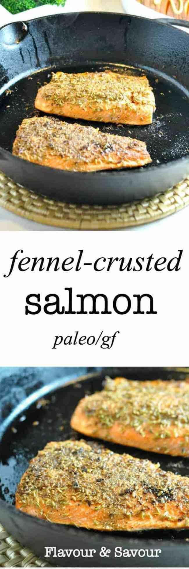 Paleo Fennel-Crusted Salmon.