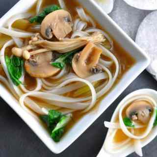 Miso Noodle Soup with Mushrooms