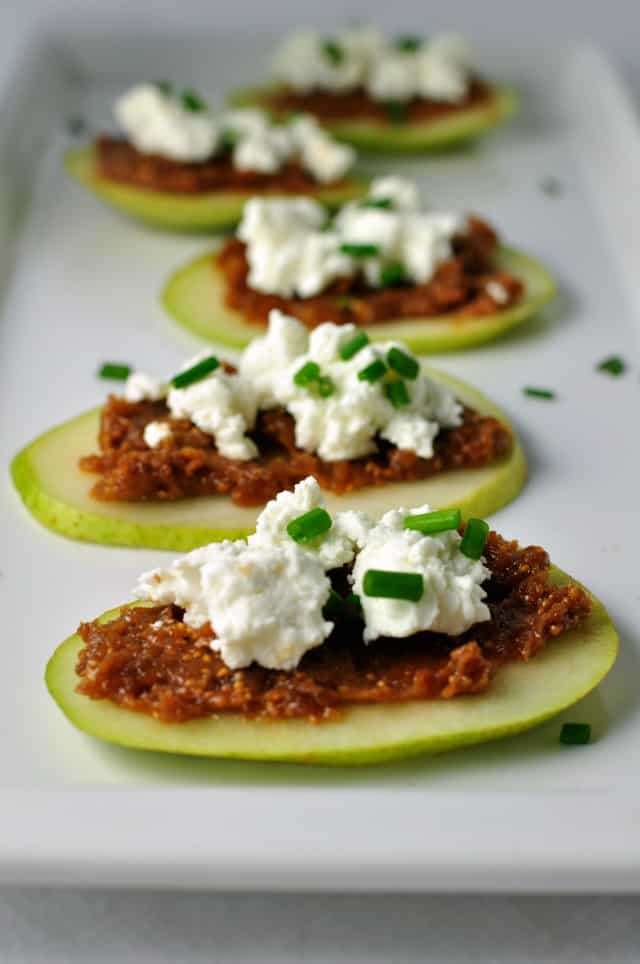 Fig and Goat Cheese Crostini. Sweet figs mixed with a hint of orange and a splash of Gran Marnier! from Flavour and Savour