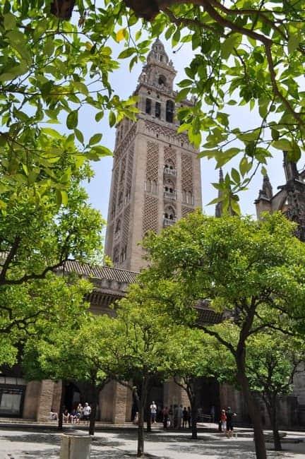 Giraldo Tower in Seville Spain