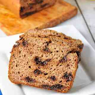 Paleo Chocolate Chip Banana Bread. Grain-free, moist and tender banana bread!