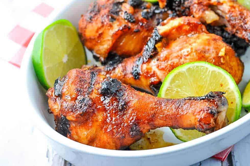 5 Ingred Chili LIme Drumsticks. Crispy skin and juicy chicken! Marinated in a honey-lime-chilli