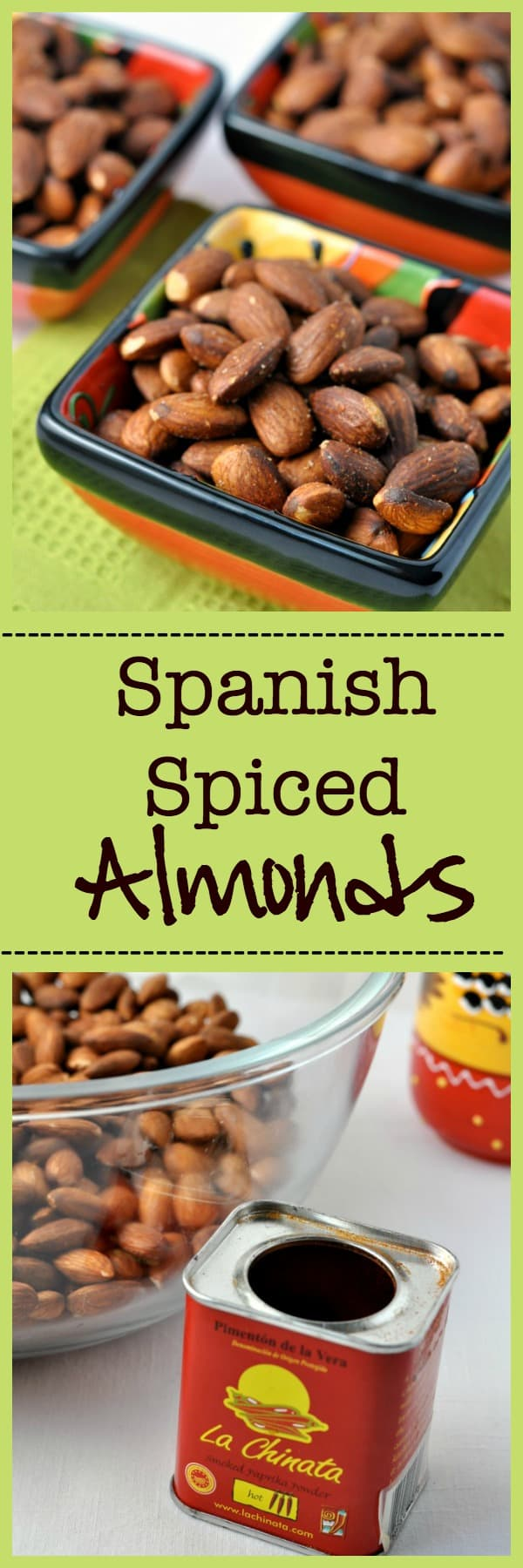 Spanish Spiced Almonds. A traditional tapa of salty, smoky almonds. |www.flavourandsavour.com