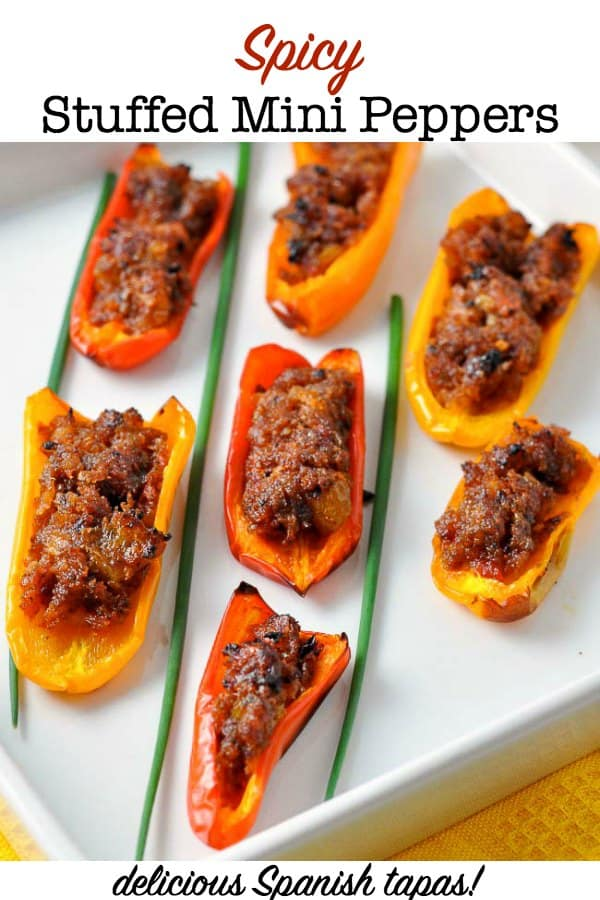 Spicy Stuffed Mini Peppers, one of 20 easy finger food appetizers on Flavour and Savour
