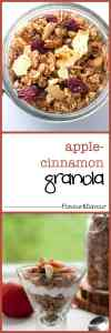 How to Make Apple Cinnamon Granola |www.flavourandsavour.com